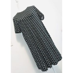 NWT Loft | Black and White Short Sleeve Dress